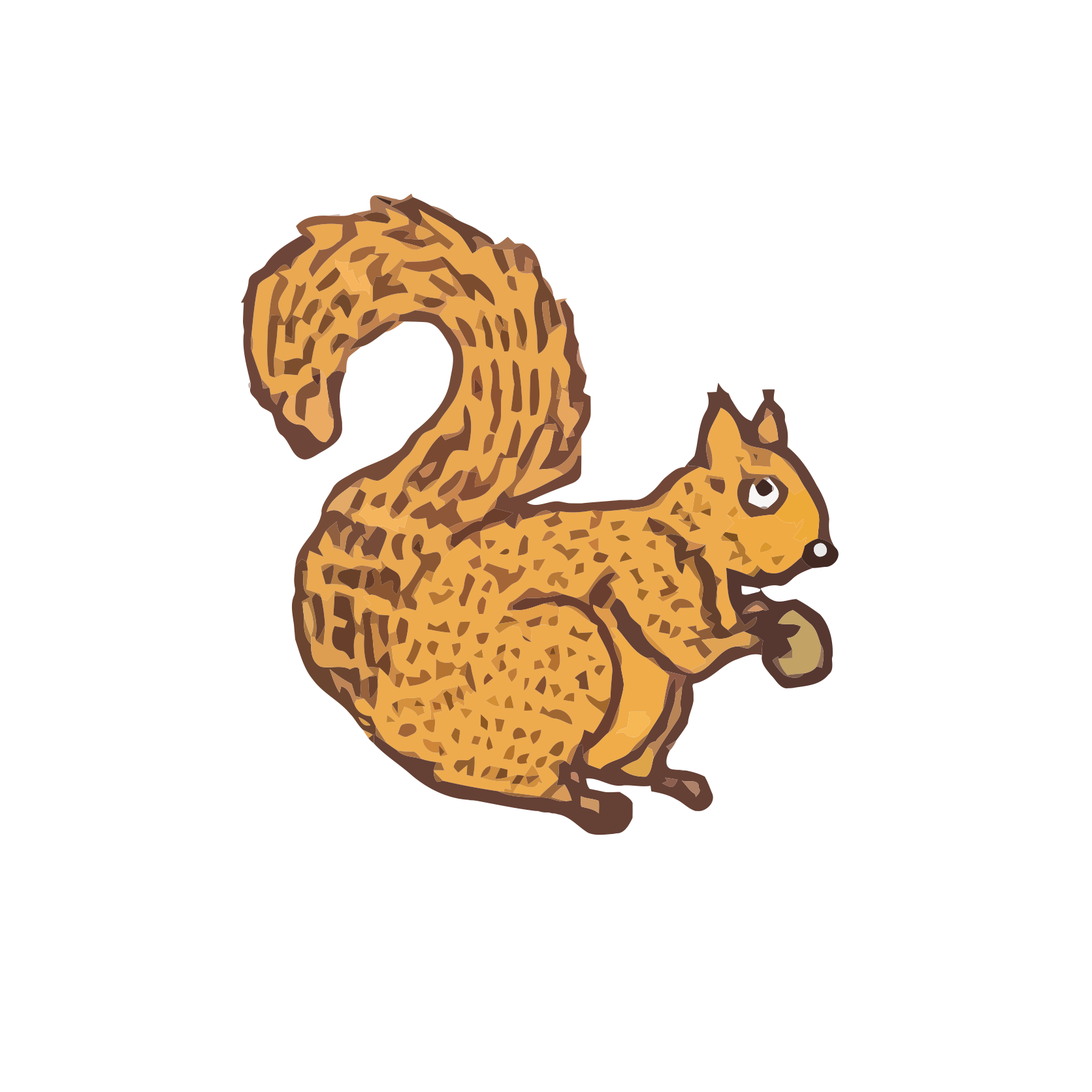 Polish - Red squirrel - art, draw, drawings, vectorized, vector, image, artwork, paints