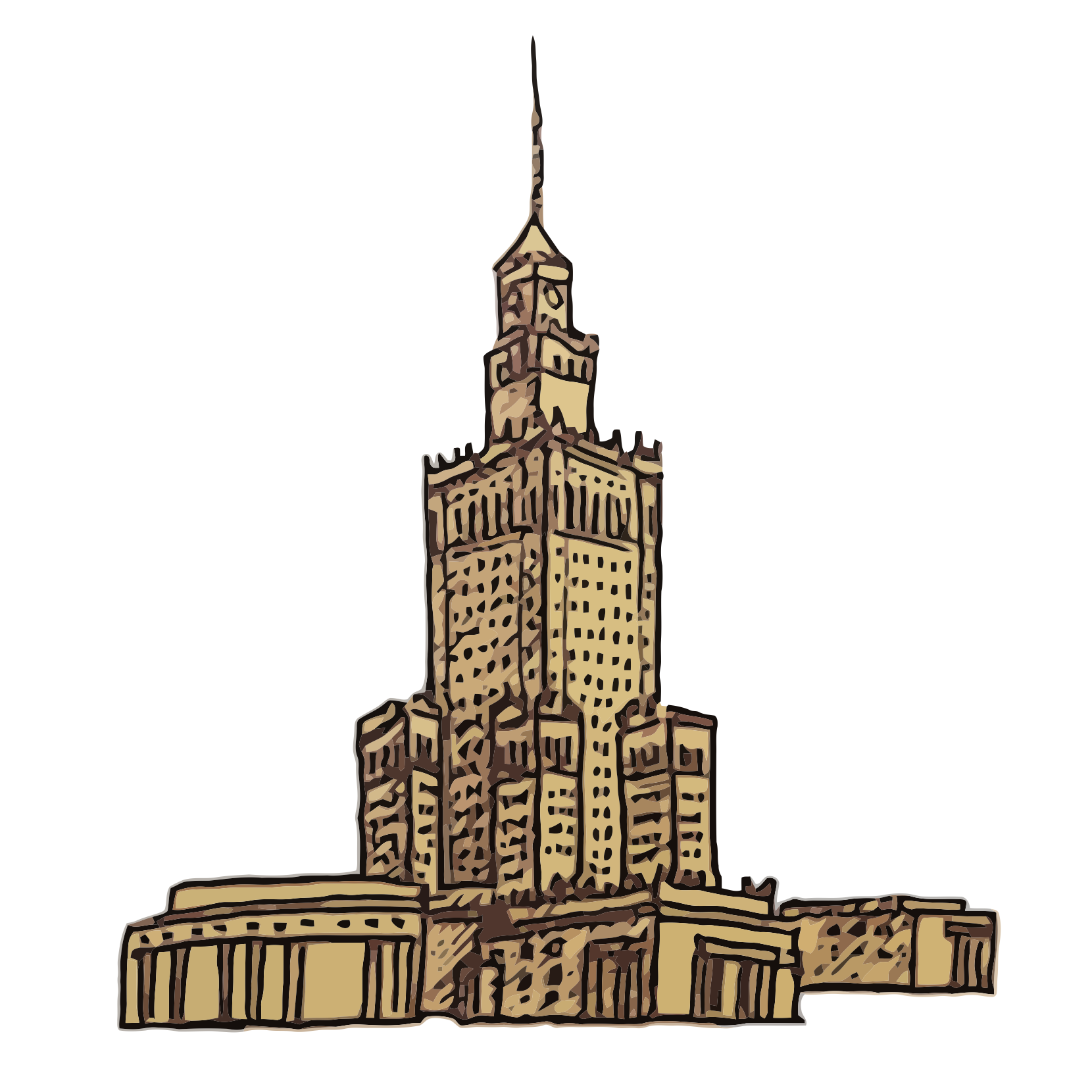 Polish - Palace of Culture and Science -PKiN - PKiN, art, draw, drawings, vectorized, vector, image, artwork, paints