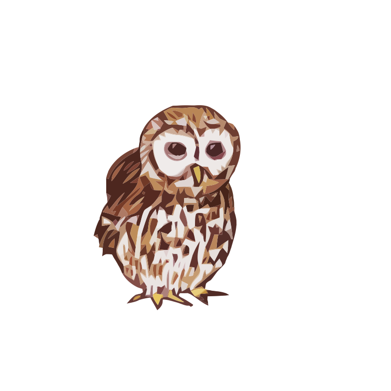 Polish - Gray owl - art, draw, drawings, vectorized, vector, image, artwork, paints